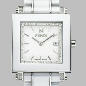 💎FENDI 💎CERAMIC DIAMOND LARGE FACE WATCH WOW